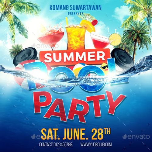 summer pool party flyer koni polycode co