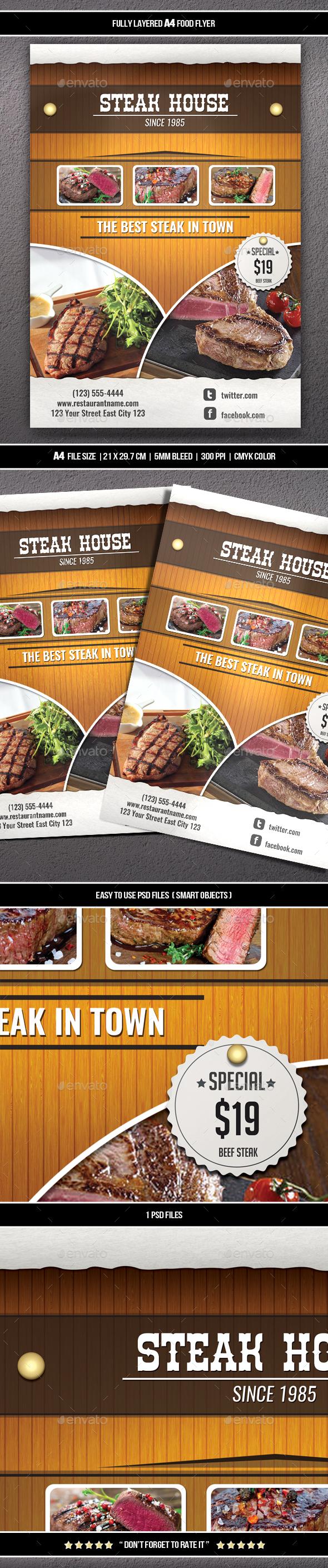 Food Flyer 8 (A4) - Restaurant Flyers