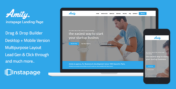 instapage Onepage Template - Amity