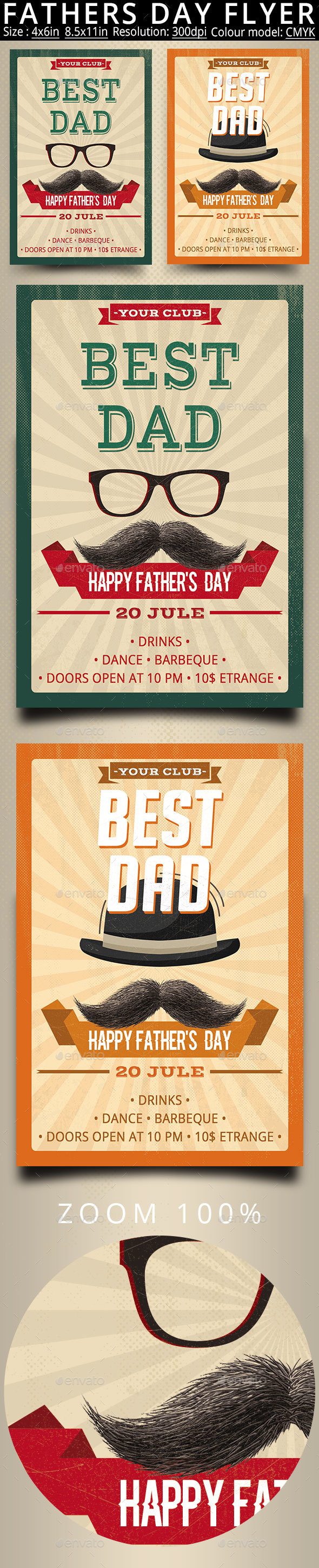 Fathers Day Best Dad Flyer And Poster - Events Flyers