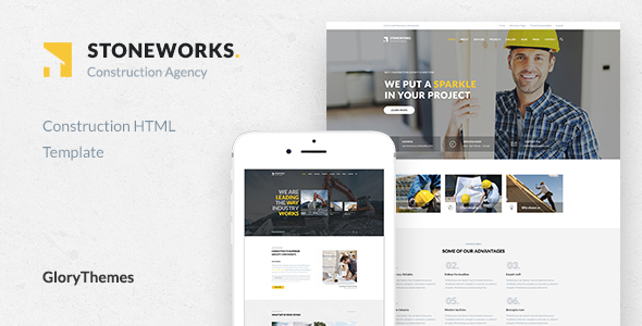 Stoneworks – A Professional HTML Template for Construction, Architect & Building Business