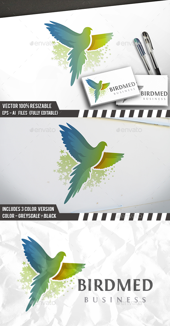 Bird Media Logo - Animals Logo Templates
