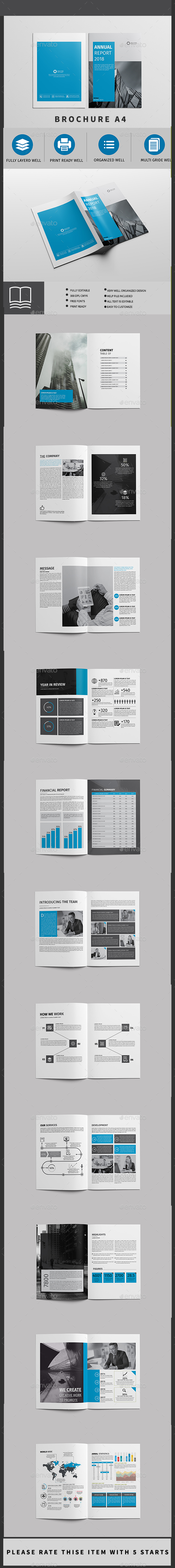 Annual Report 24 page - Brochures Print Templates