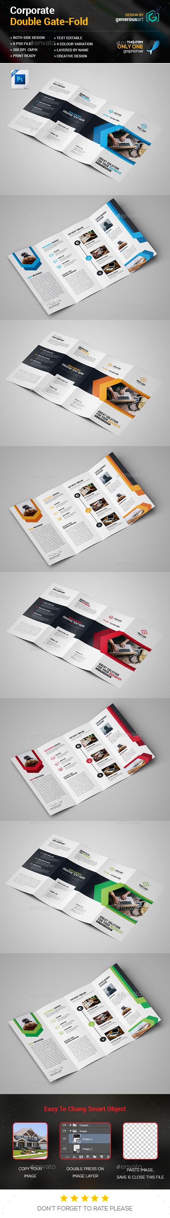 Double Gate-fold - Brochures Print Templates