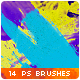 14 Watercolor Paint Splatters Photoshop Brushes #3 - GraphicRiver Item for Sale