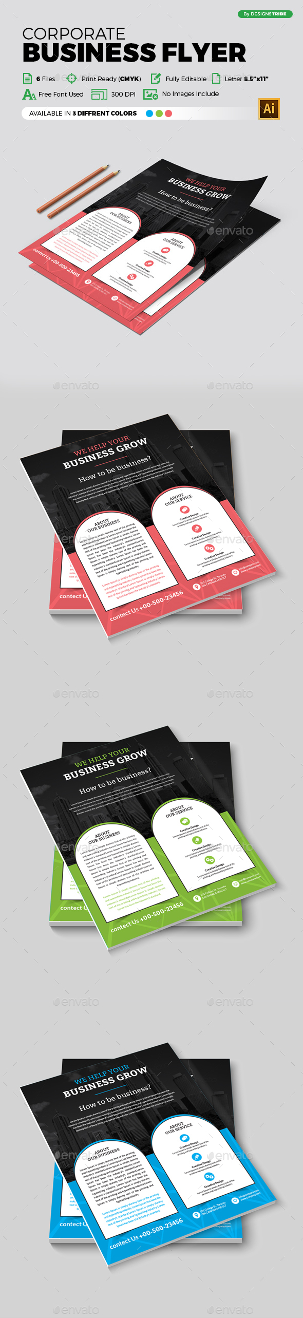 Flyer – Multipurpose 321 - Flyers Print Templates