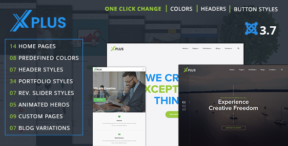 Image of xPlus - Responsive Multipurpose Business Joomla Theme
