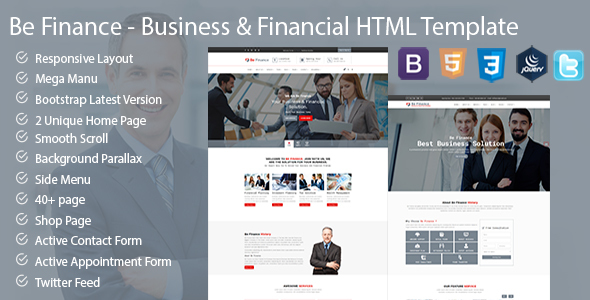 Be Finance Business and Finance HTML Template