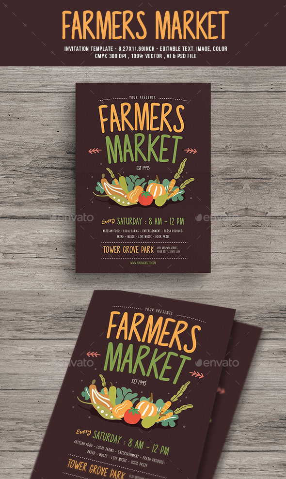 Farmer's market Flyer - Events Flyers