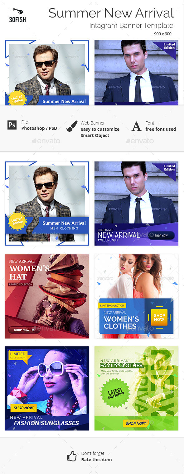 Summer New Arrival Banner Template - Banners & Ads Web Elements