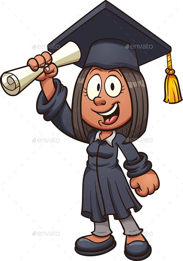 Graduate Girl - People Characters