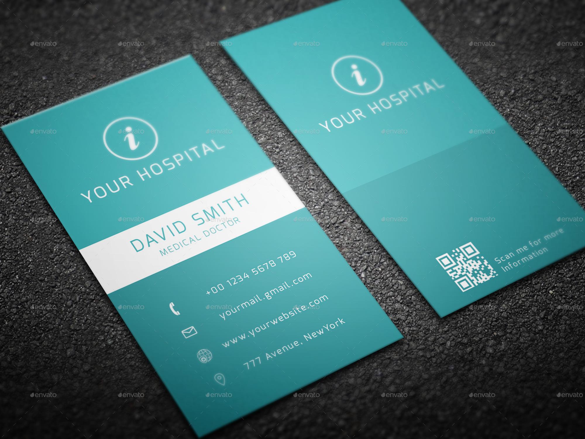 hospital business card by sabbirmc