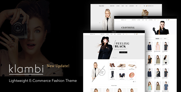 Klambi - Modern Black & White E-Commerce Fashion Theme - Fashion Retail