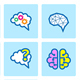 Brain Icon Set - GraphicRiver Item for Sale
