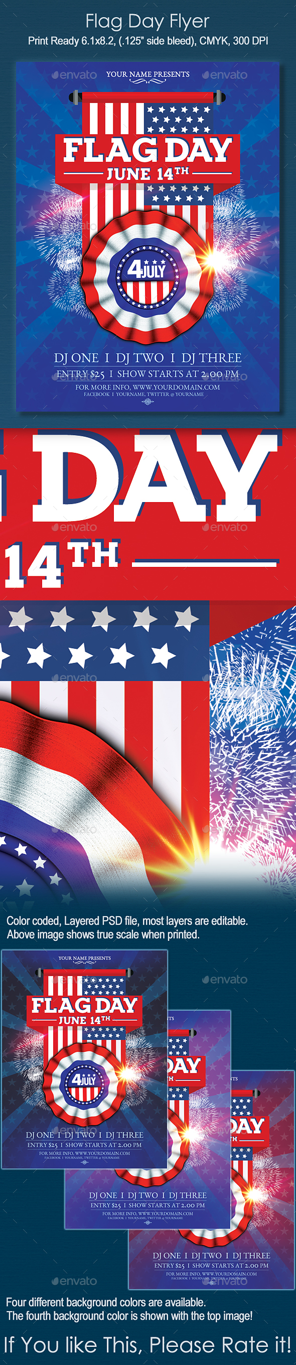 Flag Day Flyer - Holidays Events