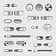 Toggle Switch Buttons Vector Set - GraphicRiver Item for Sale
