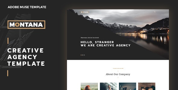 Montana – Maintain a Modern & Inspirational Agency Adobe Muse Template