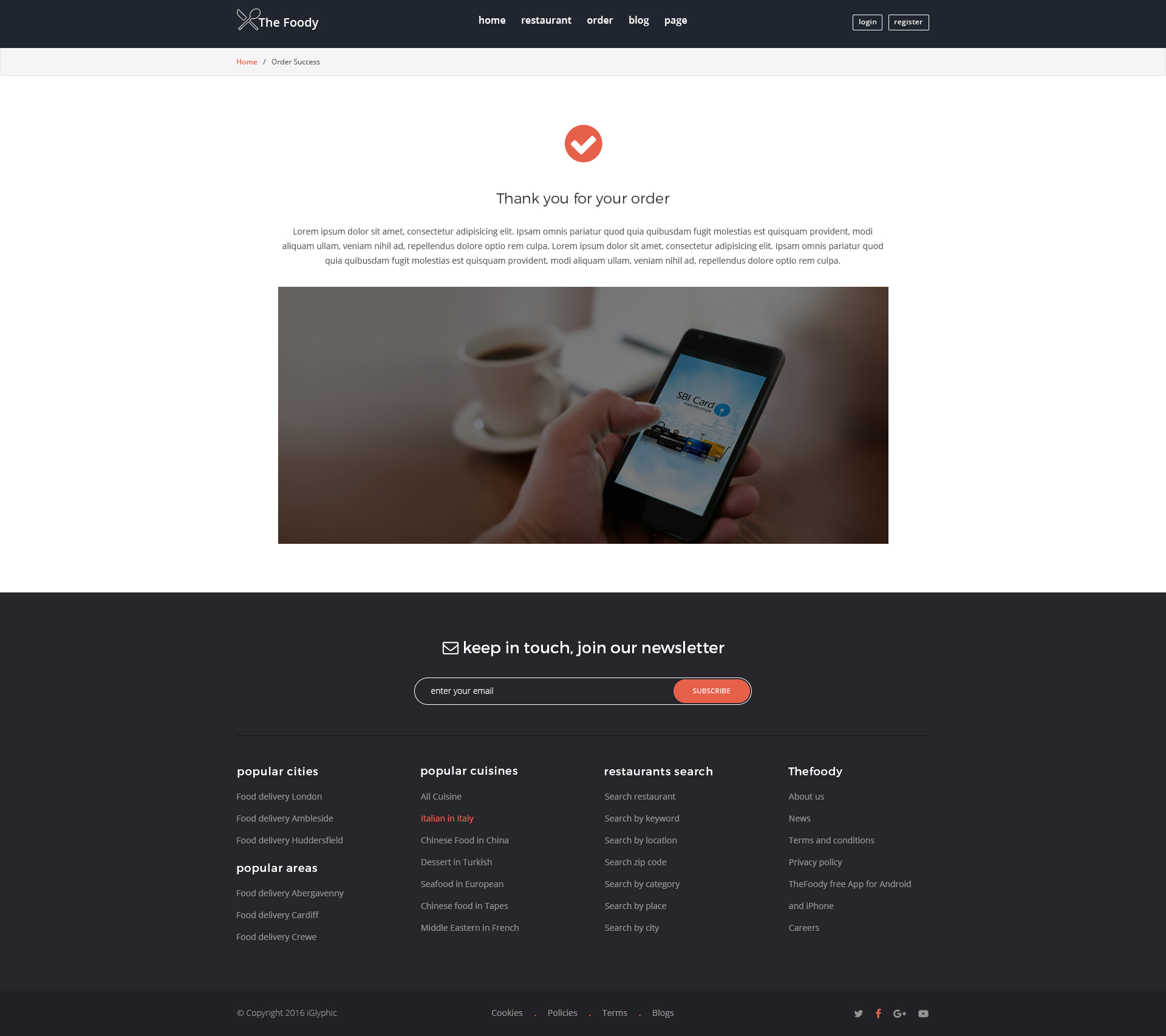 Thefoody - Multiple Restaurant System PSD Template by iGlyphic ...