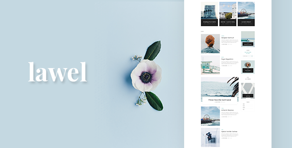 Lawel  Modern Personal WordPress Blog Theme