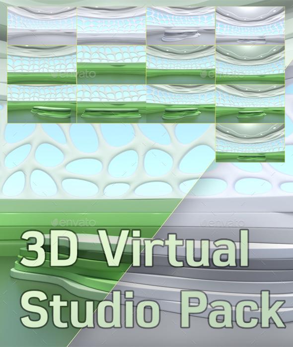 3D Rendering of Virtual Studio - 3D Backgrounds