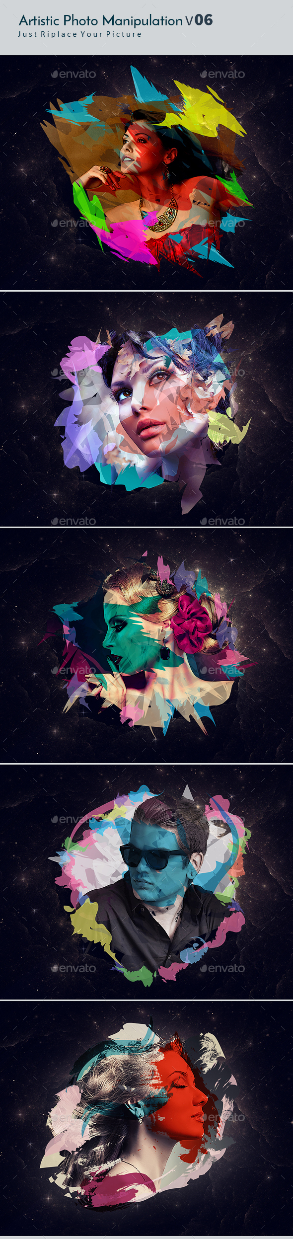 Artstic Photo Manipulation v06 - Photo Templates Graphics