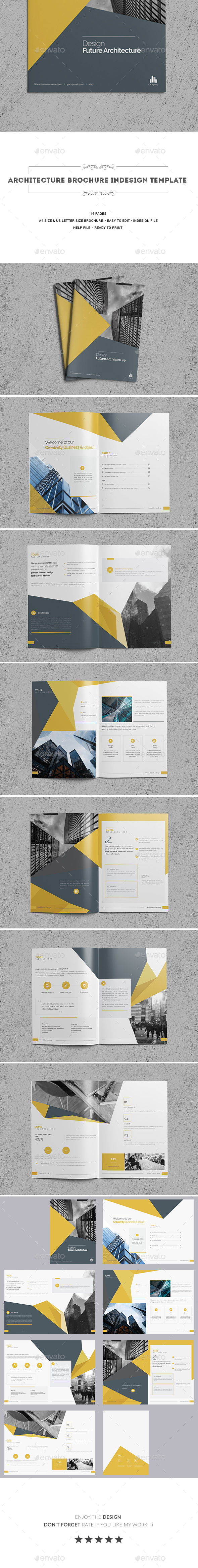 Architecture Brochure Indesign Template - Corporate Brochures