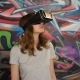 Young Woman in Virtual Reality Glasses Playing the Game. 3D Gadget Technology. VR Glasses Cardboard - VideoHive Item for Sale