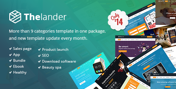 Thelander Multiple Concept Landing Page Template