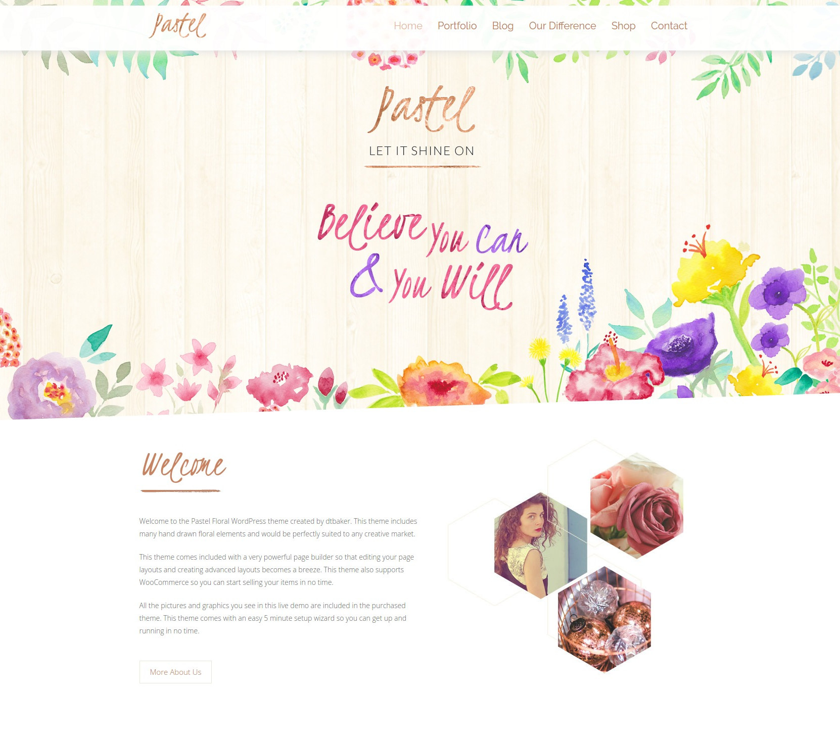pastel floral art wordpress blog shop by dtbaker themeforest