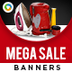Mega Sale Banners - GraphicRiver Item for Sale