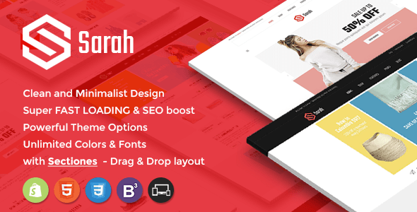 Sarah - Sectioned Responsive Shopify Theme