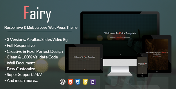 Fairy - Responsive & Multipurpose WordPress Theme