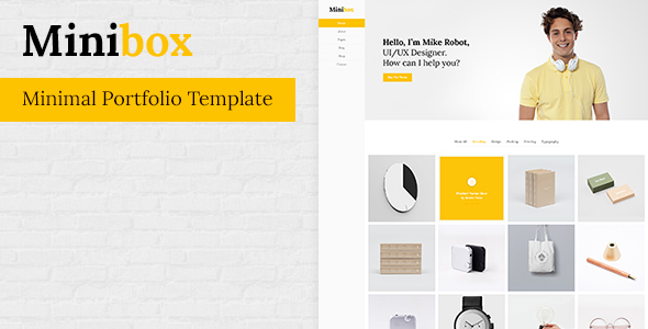 MiniBox- Minimal Portfolio Template