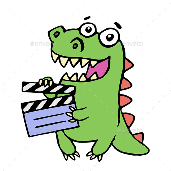 Dragon with Movie Clapper Board - Miscellaneous Characters