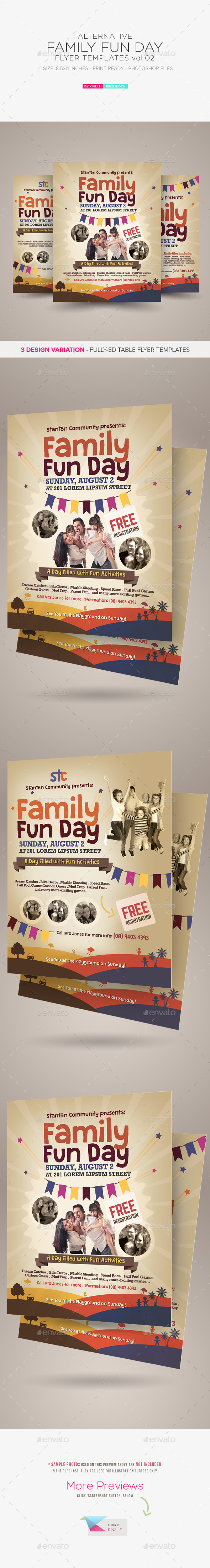 Alternative Family Fun Day Flyers vol.02 - Holidays Events