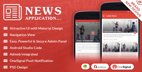 News Application with Material Design - CodeCanyon Item for Sale