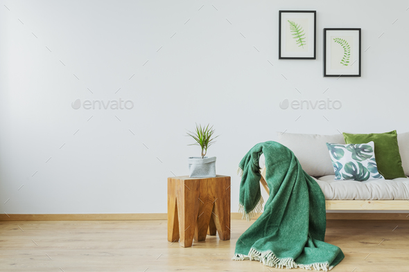 Green accents in the interior - Stock Photo - Images