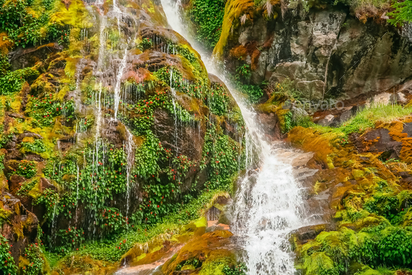 Small waterfall in Patagonia - Stock Photo - Images