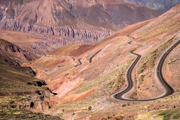 Twisting mountain road - Stock Photo - Images