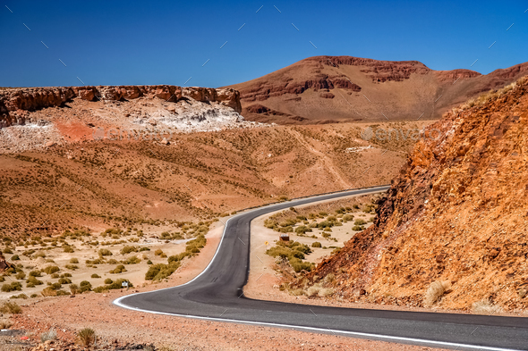 Empty road in Argentina - Stock Photo - Images