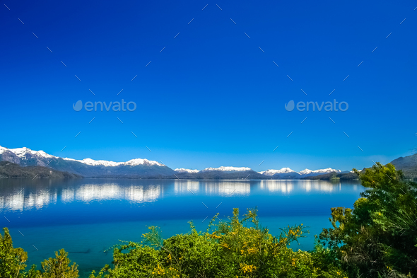 Argentinian blue lakes - Stock Photo - Images