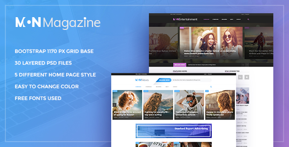 Mon Magazine - PSD Template for Magazine