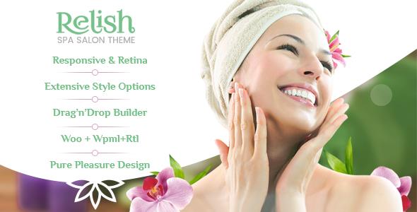 Relish - Spa Salon WordPress Theme - Health & Beauty Retail