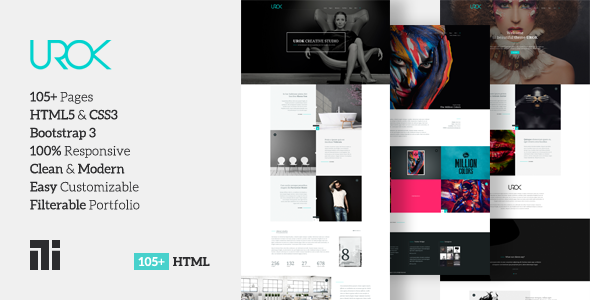 UROK: Responsive Multipurpose HTML5 Template - Creative Site Templates