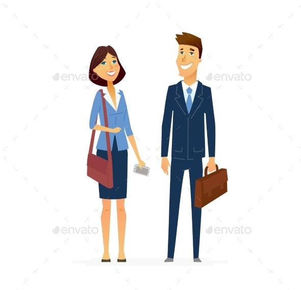 Business Man and Woman - People Characters