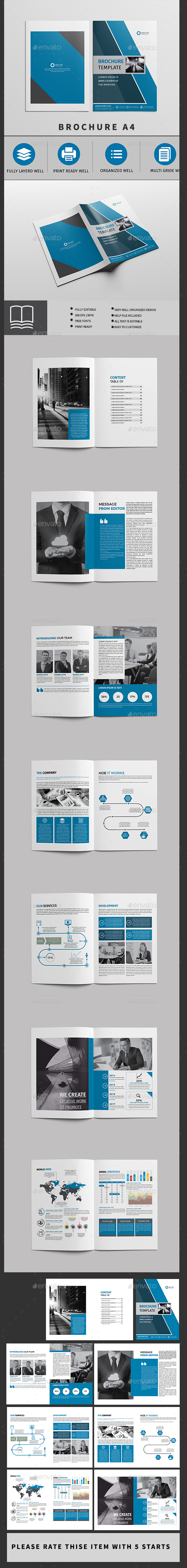 Brochure Template 16 Page - Brochures Print Templates