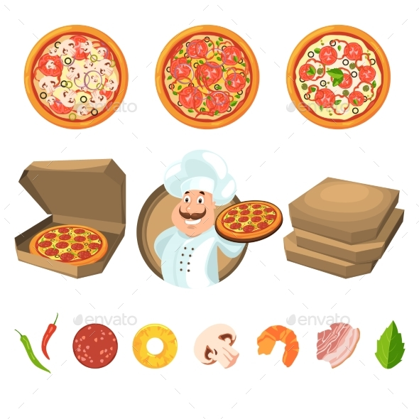 Fast Food for Party or Italian Lunch - Food Objects