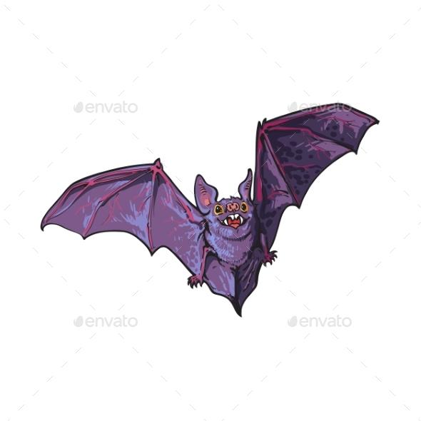 Flying Halloween Vampire Bat - Animals Characters