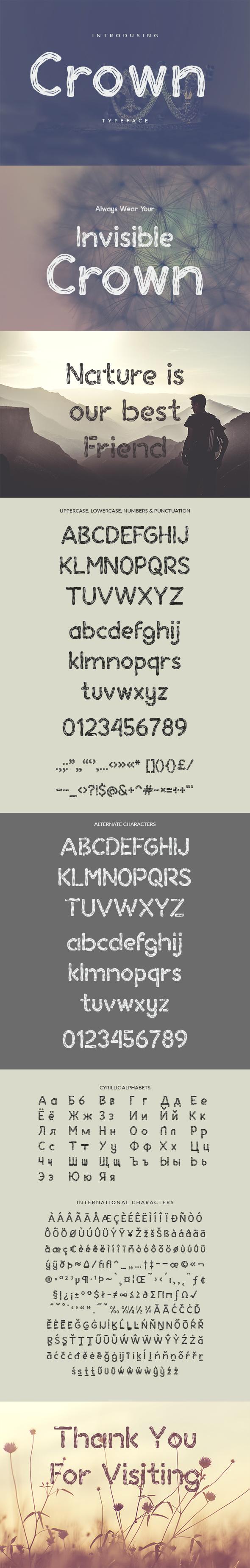 Crown Typeface - Decorative Fonts
