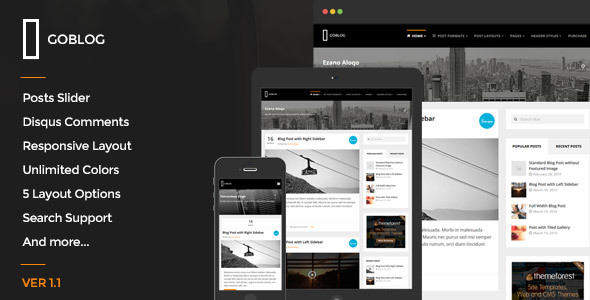 GoBlog - Responsive Ghost Blog Theme - Ghost Themes Blogging